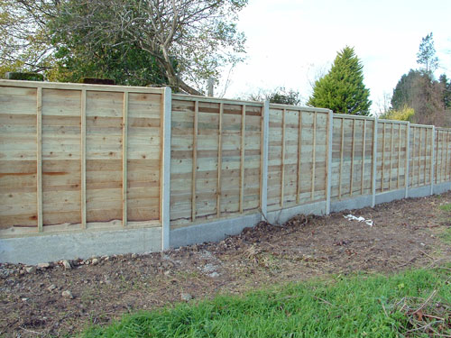 how to build a field fence on uneven ground